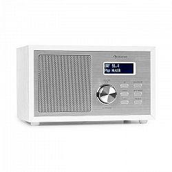 Auna Ambient DAB+/FM, rádio, BT 5.0, AUX vstup, LCD displej, budík, časovač, drevený vzhľad, biele