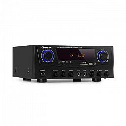 Auna Amp-2 BT, HiFi zosilňovač, 2 x 50 W, BT, USB, SD, 2 x mikrofónový vstup, čierny