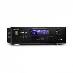 Auna AMP 5100 BT, stereo zosilňovač, 2 x 120 W + 3 x 50 W RMS, BT, čierny