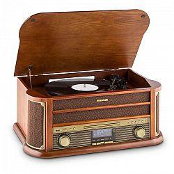Auna Belle Epoque 1908 DAB, retro stereo systém, gramofón, DAB+, bluetooth