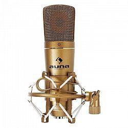 Auna CM600 USB kondenzátorový mikrofón, bronzový, štúdiový