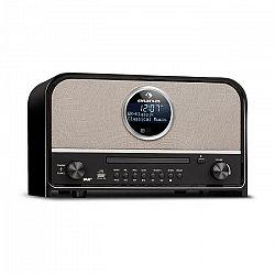 Auna Columbia, DAB rádio, 60 W max., CD, DAB+/FM tuner, BT, MP3, USB, čierne