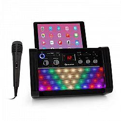 Auna DiscoFever 2.0, karaoke systém, BT, disko LED diódy, CD/CD+G prehrávač, čierny