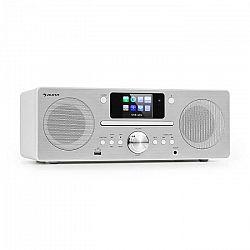 Auna Harvard, kompaktný systém, internetové/DAB+ a UKW-rádio, CD-prehrávač, bluetooth, biely