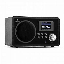 Auna IR-150, internetové rádio, FM, DLNA, WLAN, retro, diaľkové ovládanie, drevená skriňa
