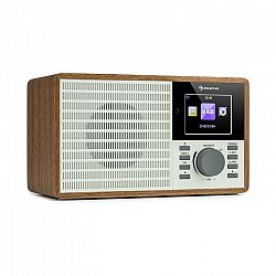 "Auna IR-160 SE, internetové rádio, WLAN, USB, DAB+, FM, 2.8"" HCC displej, aplikácia AirMusic, drevo"
