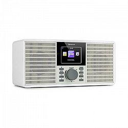 """Auna IR-260, internetové rádio, WLAN, USB, AUX, UPnP, 2.8"""" HCC displej, diaľkový ovládač, biele"""
