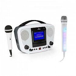 Auna KaraBanga, karaoke systém, bluetooth + mikrofón Kara Dazzl, biely