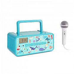 Auna Kidsbox Underwater CD Boombox, CD prehrávač, bluetooth, FM, USB, LED displej, tyrkysový