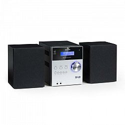 Auna MC-20 DAB micro stereo zariadenie, DAB+, bluetooth, diaľkové ovládanie, strieborná farba