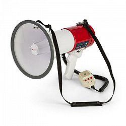 Auna MEGA080USB, megafón, 80 W, MP3 prehrávač, USB, nahrávanie, dosah 700 m, červený
