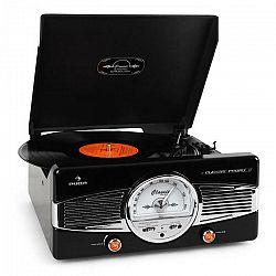 Auna MG-TT-82B gramofón, FM, 50. roky, retro, čierny