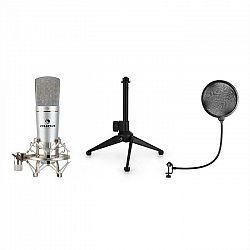 Auna MIC-920 USB mikrofónová sada V1 + kondenzátorový mikrofón + statív + pop filter