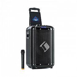 "Auna Moving 100, PA systém, 10"" woofer, 50/150 W, UHF mikrofón, USB, SD, BT, AUX, prenosný"