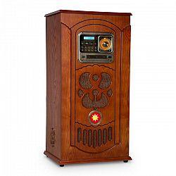 Auna Musicbox, jukebox, gramofón, CD prehrávač, BT, USB, SD, FM tuner, drevo