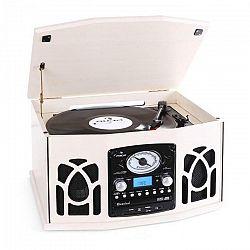 Auna NR-620, stereo zariadenie, gramofón, krémové, MP3