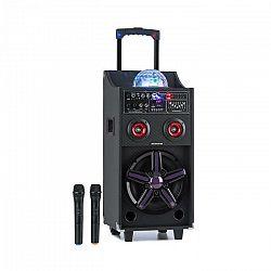 Auna Pro DisGo Box 100, prenosný PA systém, 50 W RMS, BT, SD slot, LED diódy, USB, akumulátor, čierny