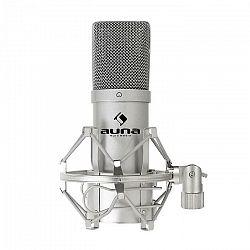 Auna Pro Kondenzátorový mikrofón Auna MIC-900S, USB, strieborný