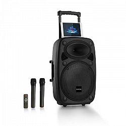 """Auna Pro Streetstar 15 mobilné PA-zariadenie 15"""" subwoofer trolley BT USB/SD/MP3 AUX"""