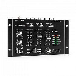 Auna Pro TMX-2211, MKII, DJ-Mixer, 3/2 kanálový, crossfader, talkover, montáž na rack, čierny