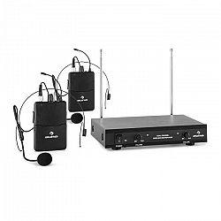 Auna Pro VHF-2-HS 2-kanálová VHF mikrofónová sada 2x headset 50m