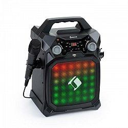 Auna Rockstar LightShow, karaoke zariadenie, bluetooth, USB, Line-In/Out, 2 x 6,3mm, čierne