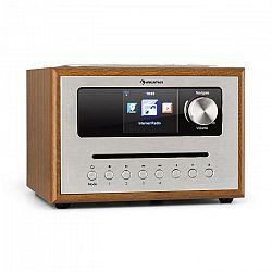 Auna Silver Star CD Cube, rádio, bluetooth, HCC displej, drevo, hnedé