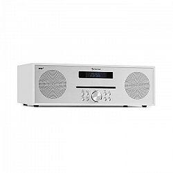 Auna Silver Star CD-DAB, rádio s CD, 2 x 20 W max., štrbinový CD prehrávač, DAB+, BT, Alu, biely