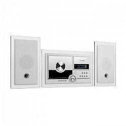 Auna Stereosonic, stereo systém, nástenná montáž, CD prehrávač, USB, BT, biely