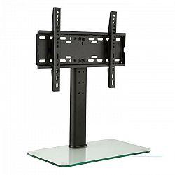 Auna TV stojan, veľkosť M, výška 56 cm, výškovo nastaviteľný, 23-47 palcov, sklenený stojan