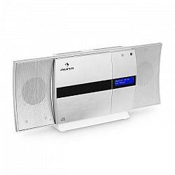 Auna V-20 DABvertikálne stereo zariadenie bluetooth NFC CD USB MP3 DAB+ strieborno-biela farba