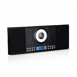 Auna Wallie, mikrosystém, CD prehrávač, bluetooth, USB port, diaľkový ovládač, čierny