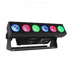 Beamz BBB612, battery bar, svetelná rampa s batériou, 6 x 12 W 6 v 1 RGBAW-UV LED dióda, 55 W, čierna