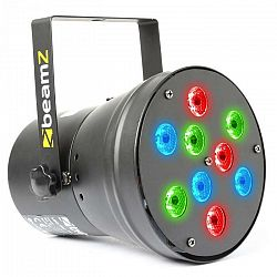 Beamz beam Z LED Par36 Spot LED svetelný efekt 9x 1W RGB DMX