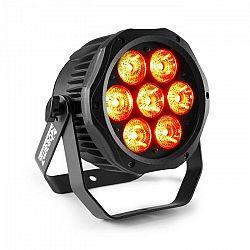 Beamz BWA410, LED PAR, 7 x 10 W 4 v 1 LED diódy, RGBW, vodotesný, čierny