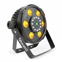 Beamz BX100 PAR LED reflektor, 6x 6W 4-v-1-RGBW-LEDiek, 12x Strobe-LEDiek, RG-Laser