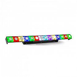 Beamz LCB14 LED lišta, 14x 3W biele a 56x SMD RGB LEDky, čierna