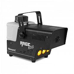Beamz Rage 600LED, výrobník hmly, 600 W, 65 m³/min., 3 x LED, 0,5 l, káblový diaľkový ovládač