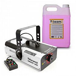 Beamz S1500LED, výrobník hmly, vrátane 5 litrov hmlovej tekutiny, 1500 W, 9 x 3 W RGB LED diód, DMX