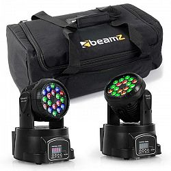Beamz set svetelných efektov s transportnou taškou, 2 x moving-head LED-108