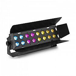 Beamz WH192, wall wash svetelný efekt, 100 W, 16 x 12 W 6 v 1 LED diódy, RGBWA-UV, IR diaľkový ovládač, čierny