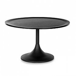 Besoa Big Visby, konferenčný stolík, 70 x 41,5 cm (Ø x V), kov, multiplexová doska, dubová dyha