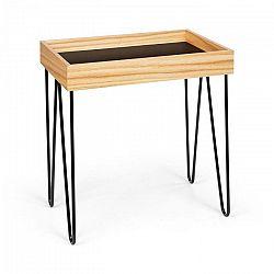 Besoa Little Lyon, konferenčný stolík, melamin/MDF s dubovou dyhou, oceľový rám, čierny