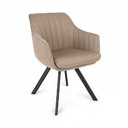 Besoa Roger, čalúnená stolička, penová výplň, 100 % polyester, oceľové nohy, béžová