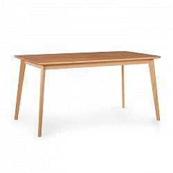 Besoa Svenson, jedálenský stolík, bukové drevo, 150 x 75 x 80 cm, drevo