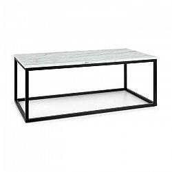 Besoa Volos T100, konferenčný stolík, 100 x 40 x 50 cm, mramor, interiér & exteriér, čierny/biely