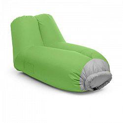 Blumfeldt Airlounge, nafukovacia sedačka, 90 x 80 x 150 cm, ruksak, prateľná, polyester, zelená