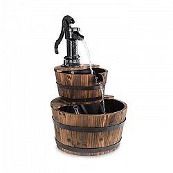 Blumfeldt Cascada Doble, okrasná fontána, 2 poschodia, 12 W, 600 l/h, drevo, hnedá