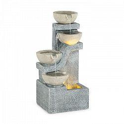 Blumfeldt Delos, fontána, LED, interiér a exteriér, 5 m kábel, cement, sivá