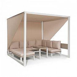 Blumfeldt Havana, pavilón & Lounge-Set, 270x230x270cm, 4 dvojsedadlá, biely